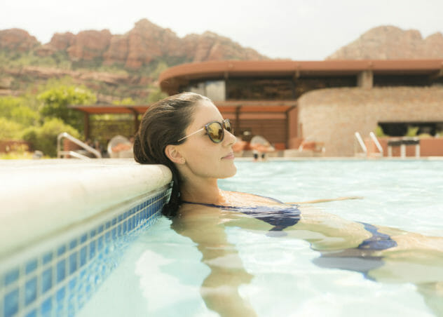 Woman in Enchantment Resort Pool