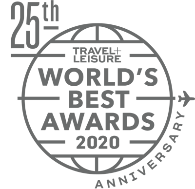 Winner Travel+Leisure World's Best Awards 2020, 25th Anniversary