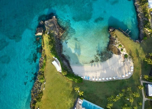 aerial photography of Eleuthera island