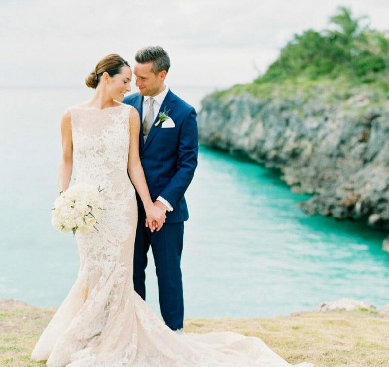 Wedding couple in Bahamas | The Cove Eleuthera