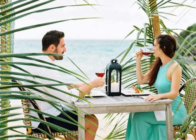 Couple Private dining at Cove Eleuthera Resort