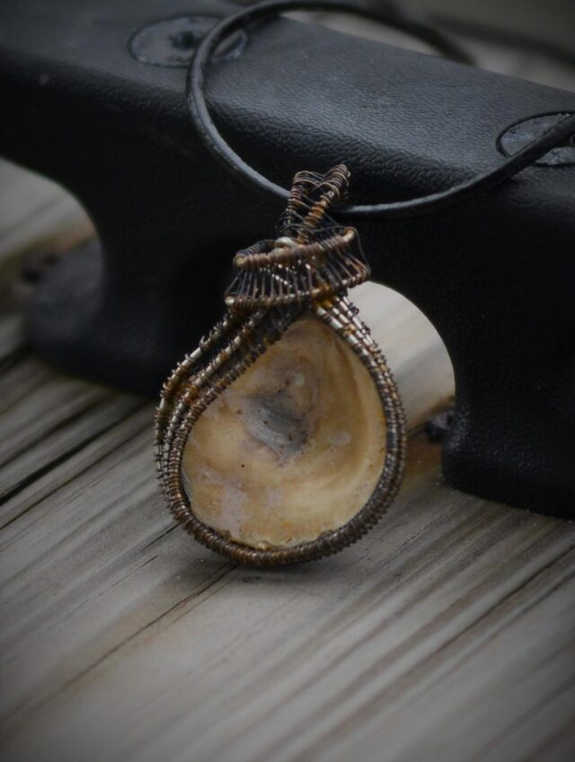 unique and beautiful piece of original oyster jewelry