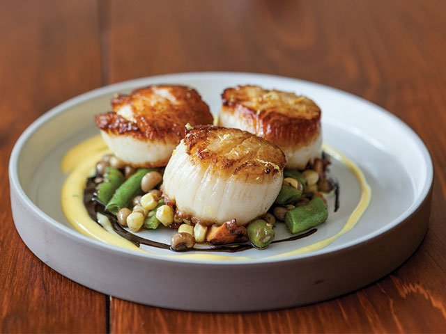 cooked scallops on a plate